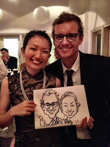 Caricature live sketching for Diageo Singapore Pte Ltd - 20