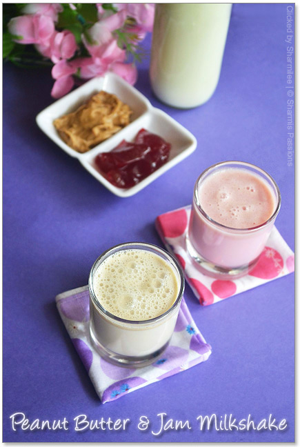 Jam Milkshake and Peanut Butter Milkshake Recipe