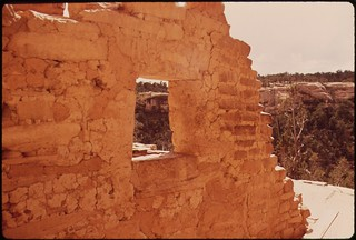 Cliff Palace, ancient Indian village built between 1100 and 1300 A.D., 05/1972.