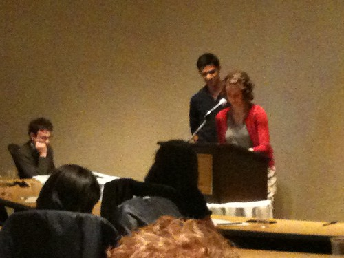NU student & ETHS student, Northwestern Univ. Writers' Festival