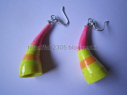 Handmade Jewelry -  Paper Trumpet Earrings (1) by fah2305