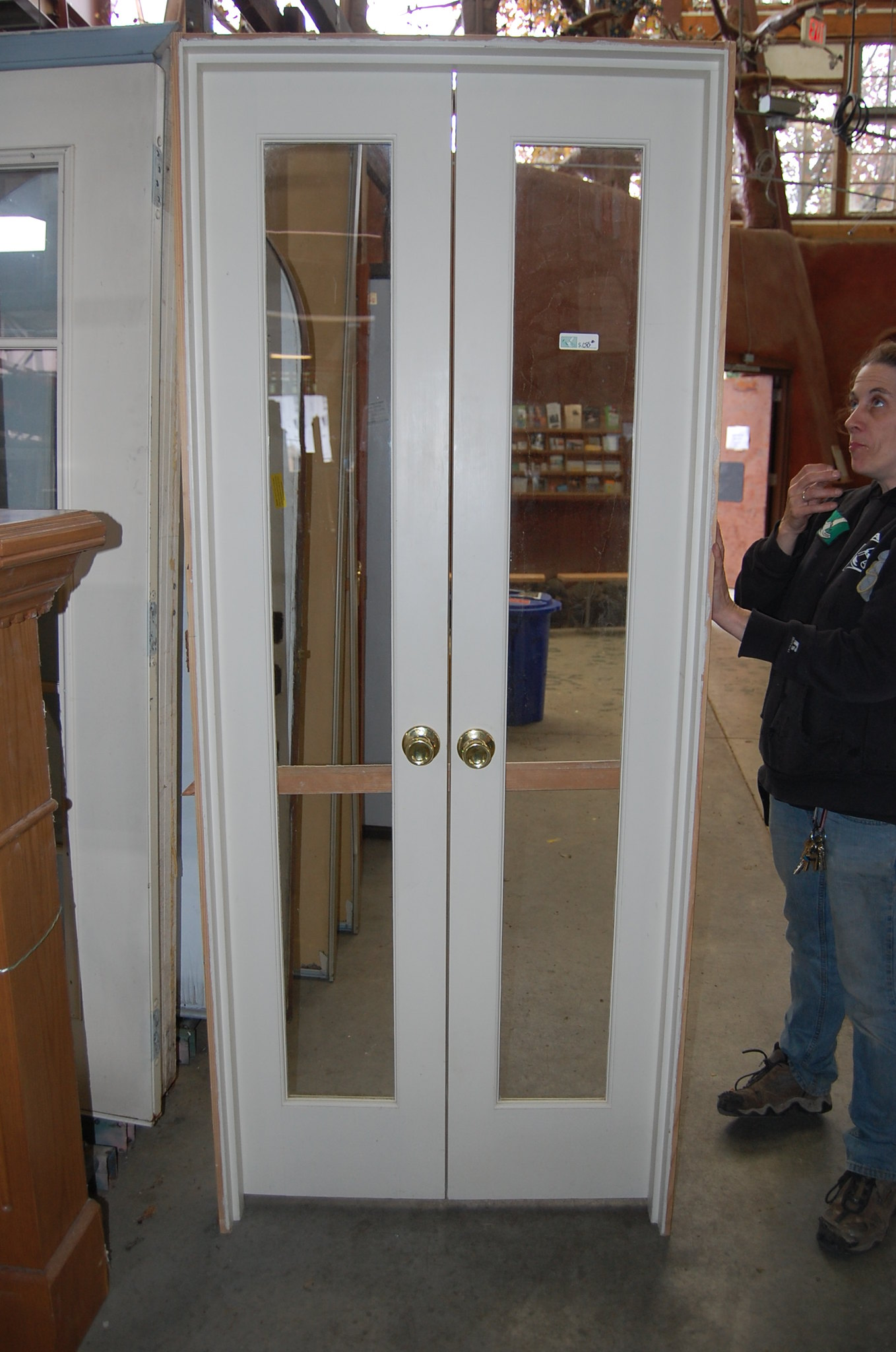 2048 #5F4937 Vintage 4ft. Divided Light French Door Set: $150 Flickr Photo  image 4ft French Doors Exterior 34431358