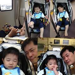 電車で移動中(2012/5/3)