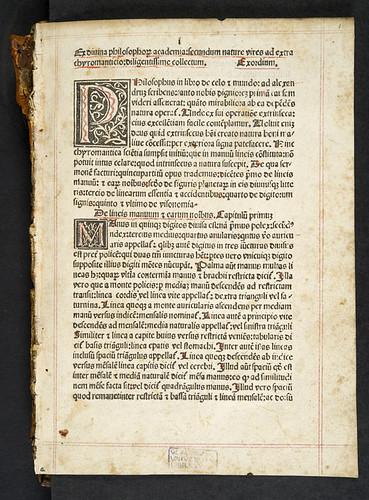 Variant reading in Chiromantia
