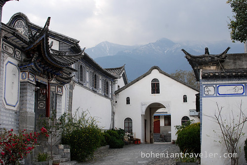 courtyard of Catholic Church in Dali Yunnan China