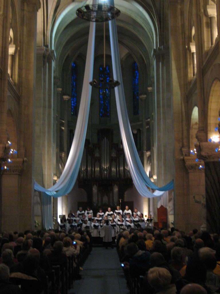 Davidson United Methodist Church Choir performs in the Eglise Sacre Coeur in Lourdes