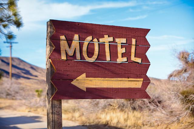 Pioneertown Motel entrance