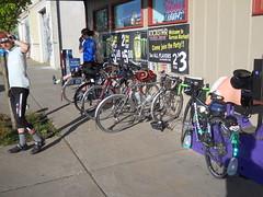 A pile of rando bikes in Gervais