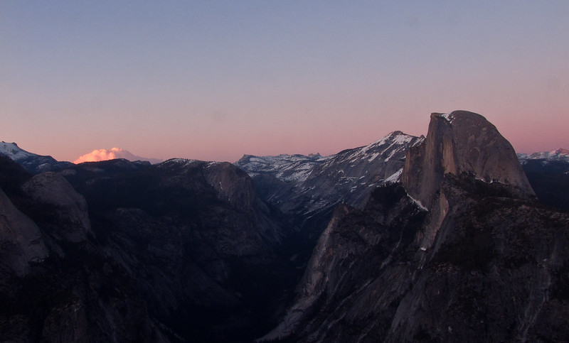 Half Dome at Twilight, Glacier Point, Yosemite National Park