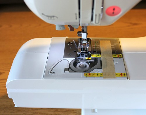 sewing machine setup for basting rickrack