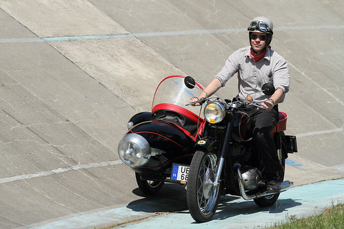 Pannonia motorcycle with sidecar