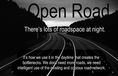 Open Road motorway at night