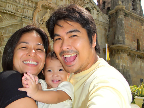 Aileen, Naima and Me at Miag-ao Church, Iloilo