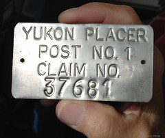 Gold claim placer tag