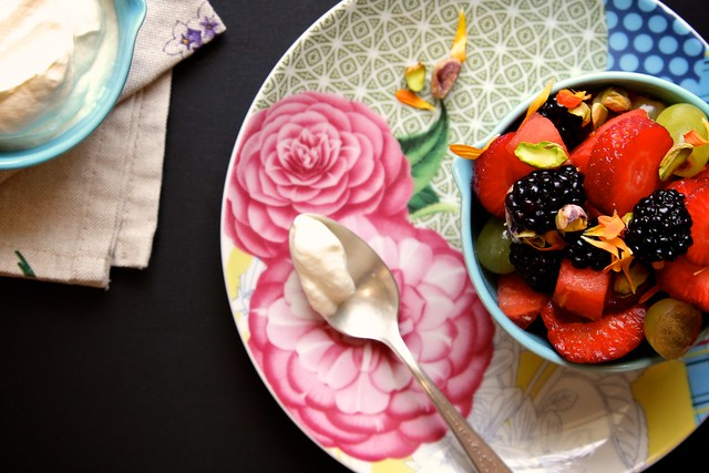 Rose Water Pistachio Fruit Salad