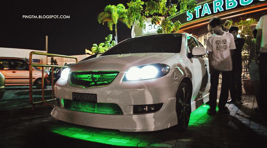 Green Neon Toyota Vios