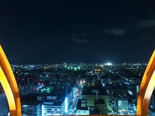 京都タワー 展望台から望む夜景