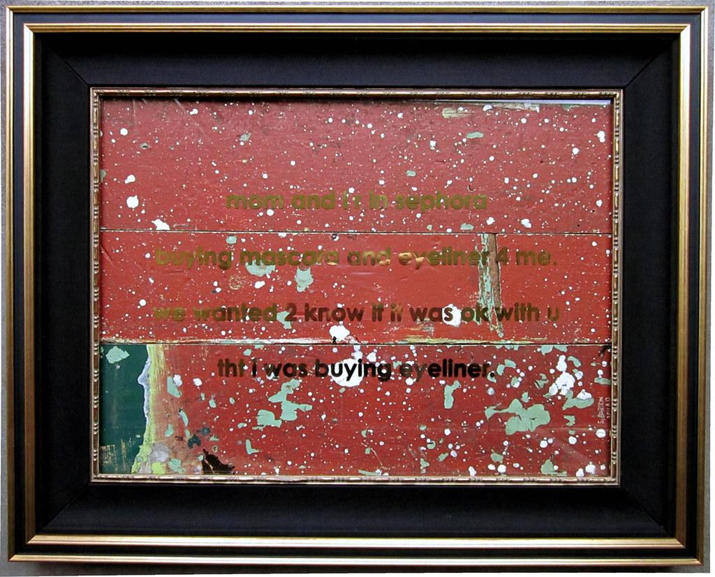 """Gold Text Message"" by Sean Barton"