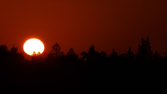 Post-Eclipse Sunset