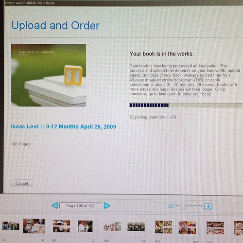 It's only taken a few years and multiple attempts, but in finally ordering Isaac's first year book!