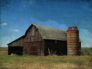 Barn With Rusty Silo