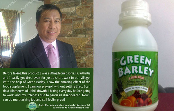 green barley testimonial on psoriasis, arthritis, and body that easily gets tired