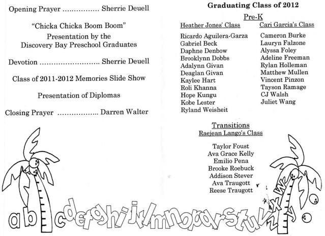 Kindergarten Graduation Program Template by Heather - visualbrains.info