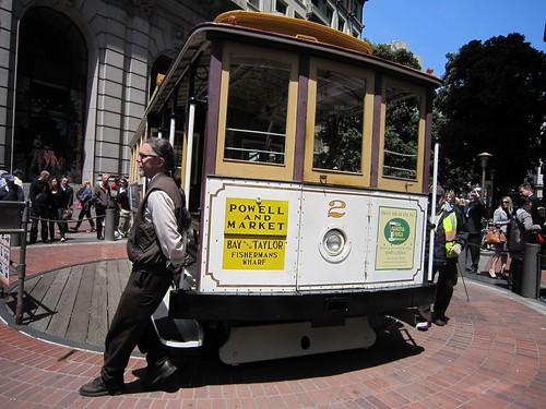 San Francisco Trolley Car Turnaround