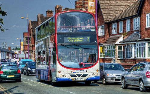 7 Bus in Witton, Birmingham, UK.