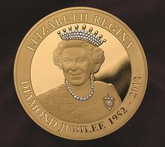 Diamond Encrusted JUbilee coin