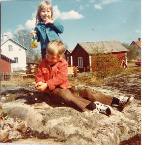 Jerk och jag i Öregrund maj 1973