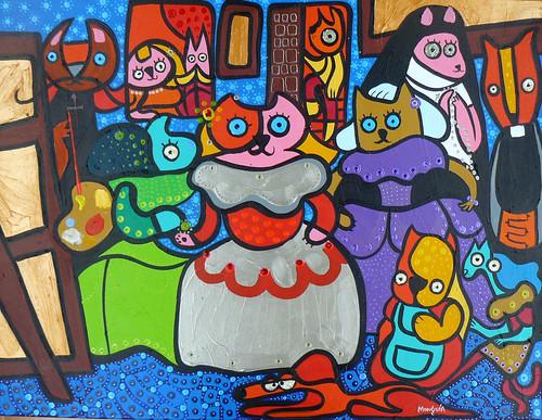 Las Mininas Version 2012 by Parodias de Pinturas Famosas