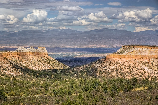 View from overlook on NM502