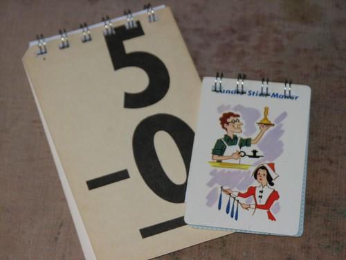 Vintage Flash Cards - Note Pad 009