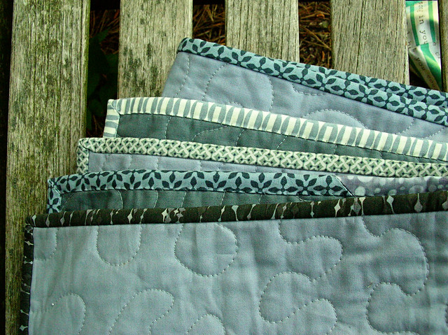 Scrappy gray binding