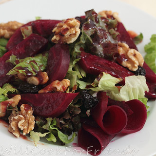 Beet Root Salad with Orange Cranberry Vinaigrette