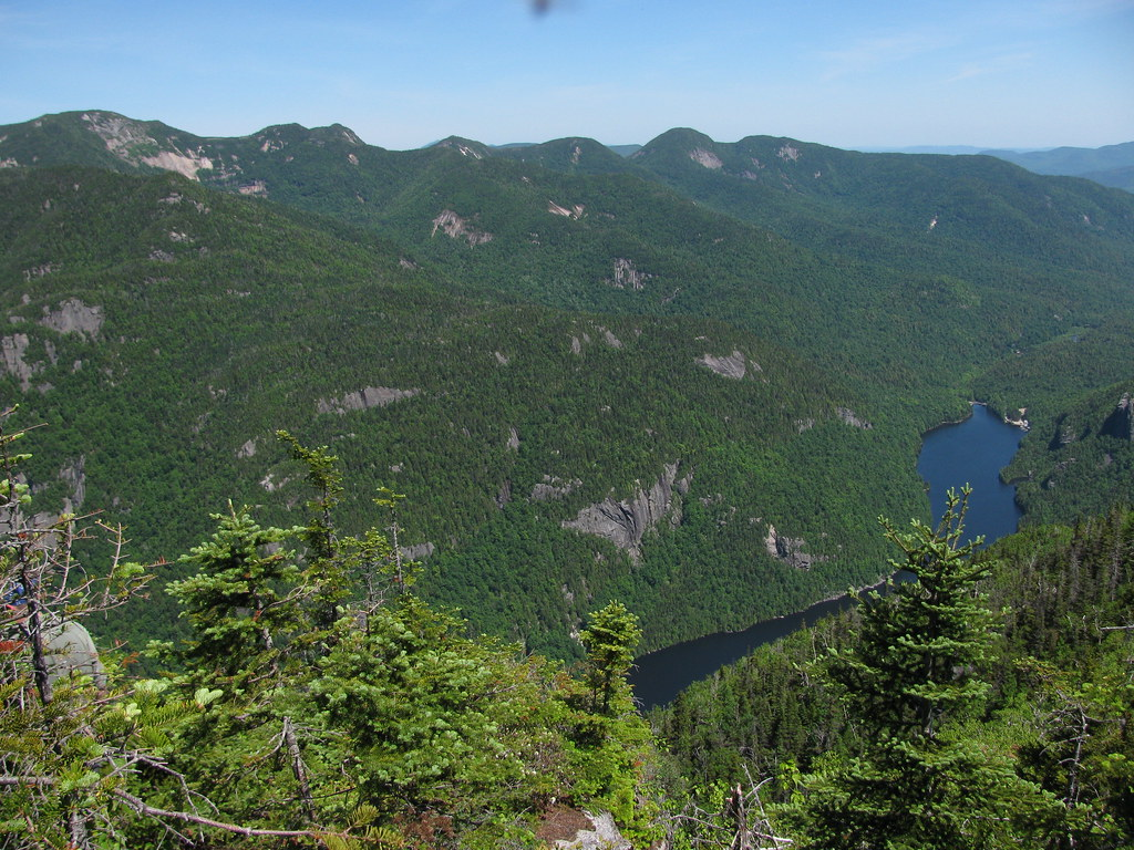 great range and lower ausable lake from mt colvin