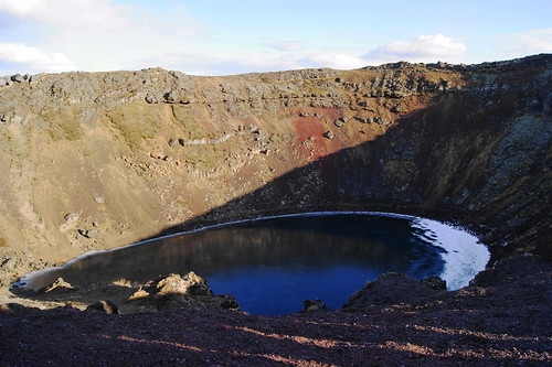 Kerið volcanic crater lake, Iceland