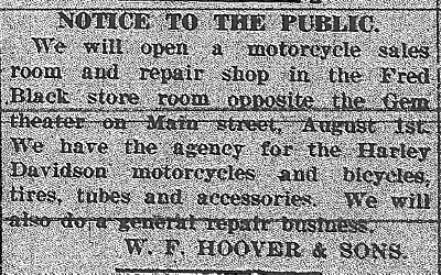 Hoover notice, News, 7-31-1919