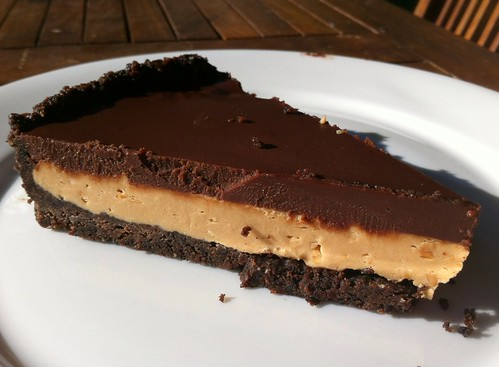 Slice of Oreo Cookie & Peanut Butter Tart