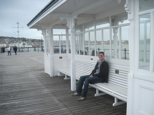 James on Swanage Pier