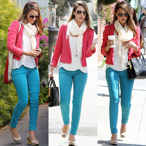 Jessica-Alba-in-a-pink-blazer