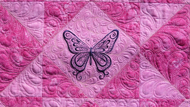 Butterfly Baby Quilt Finished