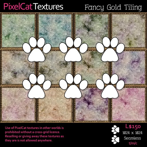 PixelCat Textures - Fancy Gold Tiling