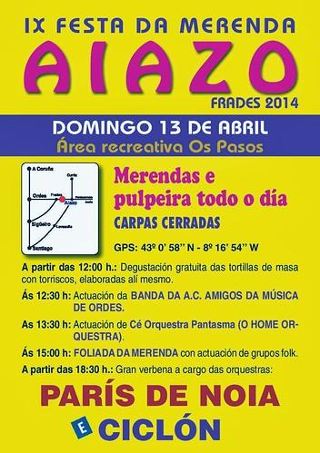 Frades 2014 - IX Festa da Merenda en Aiazo - cartel