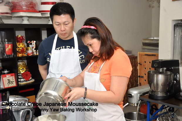 Sunny Yaw Baking Workshop Chocolate Crepe Japanese Moussecake 3