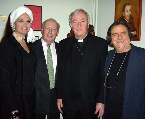 1236340_63612576CaAPA Centenary Dinner. From left to right: Lady Emma Kitchener, Lord Julian Fellowes, Archbishop Vincent Nichols, Richard O'Callaghan9751487_1775502294_n