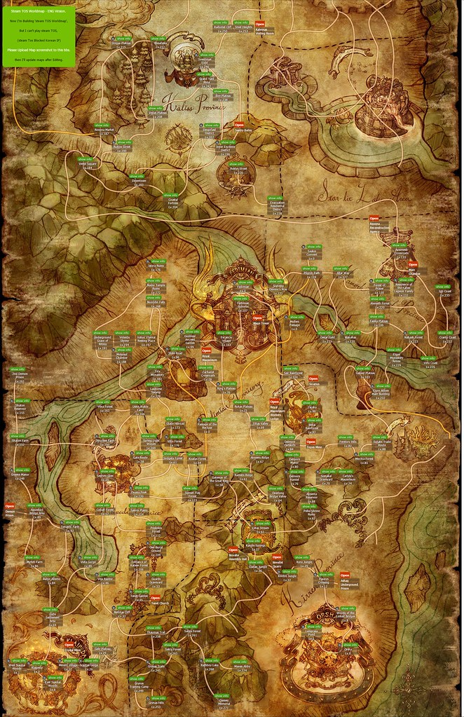 Tree of Savior Map