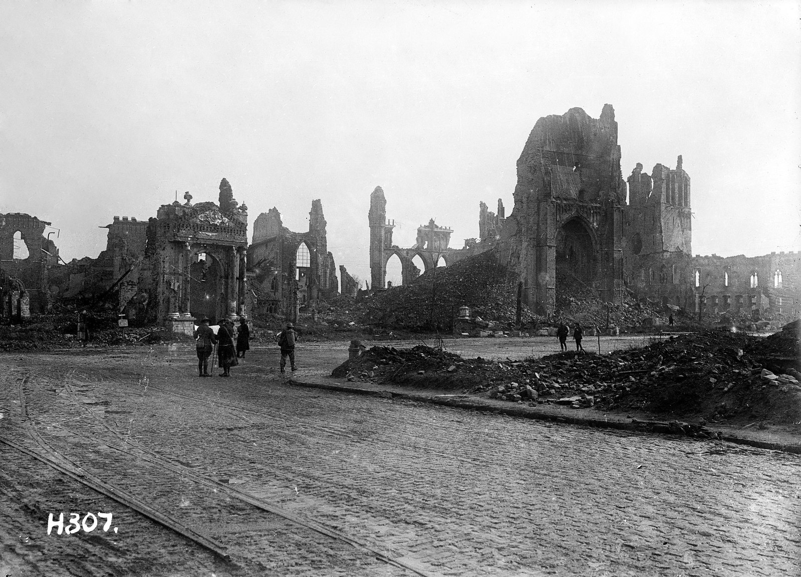 The ruins of Ypres, Belgium