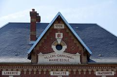 Villers-Carbonnel (mairie-école) fronton 5741 - Photo of Hyencourt-le-Grand